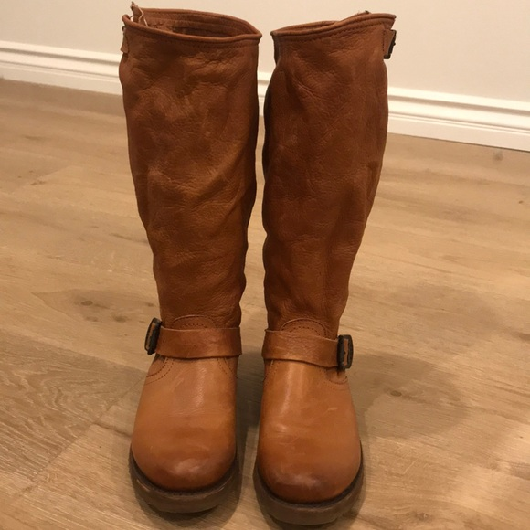 bd1aa2139 Frye Shoes   Veronica Slouch Boots Hardly Worn Whiskey   Poshmark